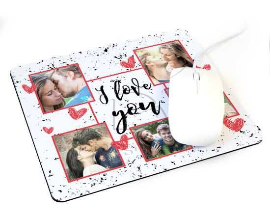 Tappetino mouse I Love you collage