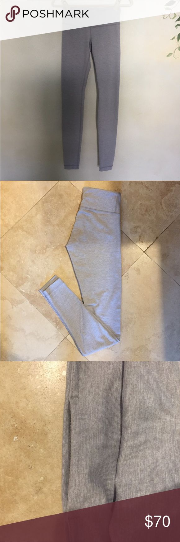 CLASSIC GREY LULU LEGGINGS ‼️SALE classic grey wunder unders with small pocket on the inside!! Cute and casual!! THEY ARE BRAND NEW AND NEVER WORN! lululemon athletica Pants Leggings