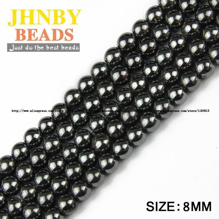 Aliexpress.com: Comprar JHNBY Piedra Natural Negro Hematite beads Ronda Suelto perlas de Piedra bola Seleccionable 3/4/6/8/10 MM Para La pulsera de La Joyería Que Hace DIY de bead picture fiable proveedores en JHNBY (Johan's Beads) Store