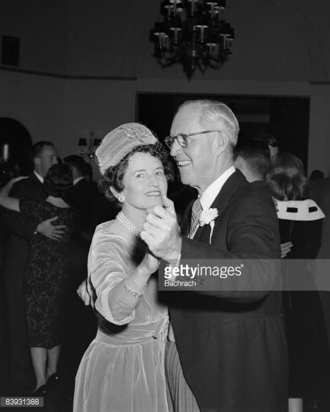 Joseph and Rose Kennedy, parents of groom Edward Kennedy, dance during the reception for their son's wedding to Joan Bennett, 1958. Description from gettyimages.co.uk. I searched for this on bing.com/images