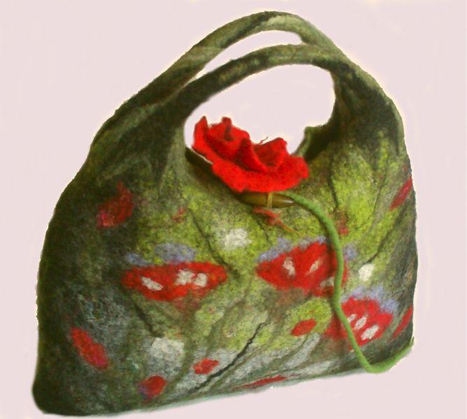 torebka filcowana na mokro w hand made by justka na DaWanda.com