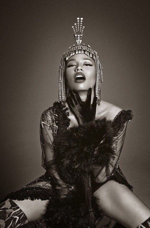 Nicki Minaj in Dolce & Gabbana photographed by Francesco Carrozzini for L'Uomo Vogue Italia, December 2014.