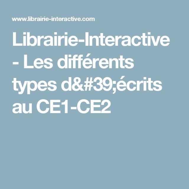 Librairie-Interactive - Les différents types d'écrits au CE1-CE2