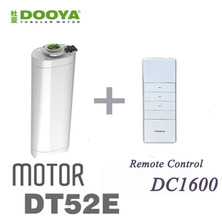2016 Venda Quente Cortina DT52E Motora Dooya Originais 45 W Elétrico Com Controle Remoto Para Smart Home
