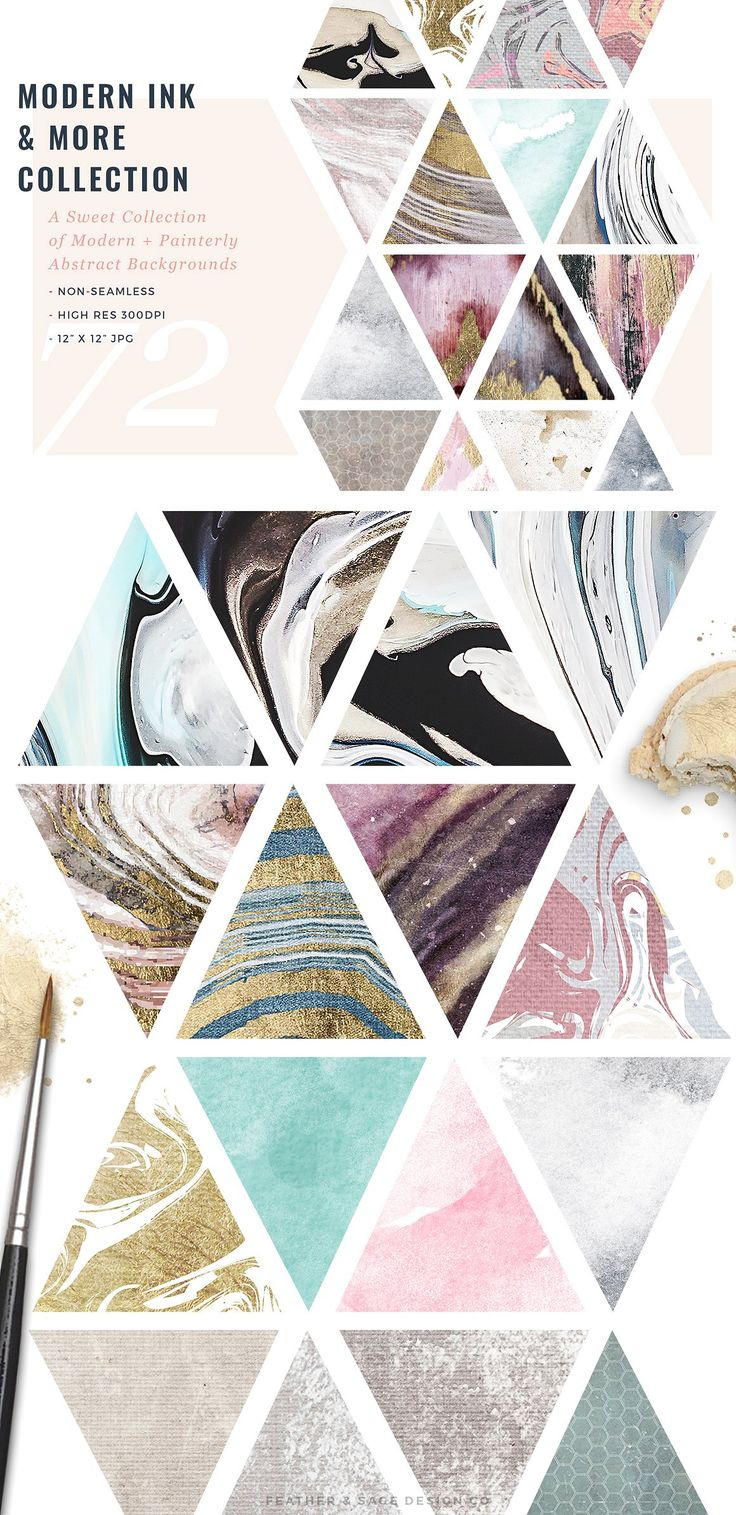 Modern Ink & More Pattern Collection by Feather & Sage Design on @creativemarket