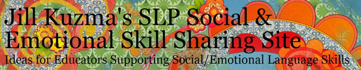 Jill Kuzma's Social-Emotional SLP Site - site with hundreds of free downloads to teach perspective taking skills, conversation skills, peer interaction, executive function skills, emotion awareness and management.  A huge list of YouTube videos for teaching social skills, goal/objective bank, etc.