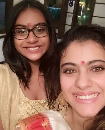 Like Mother Like Daughter - #Kajol celebrated #Diwali with her beautiful daughter #Nysa   #celebrity #bollywood #bollywoodactress #bollywoodactor #actor #actress #filmywave