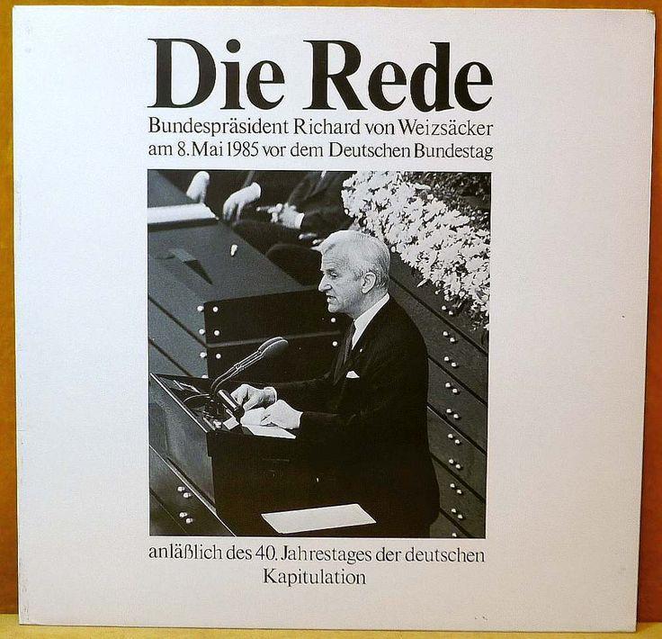 VON WEIZSÄCKER, RICHARD Die Rede LP Extra Records & Tapes 66.23614 Germany 1985