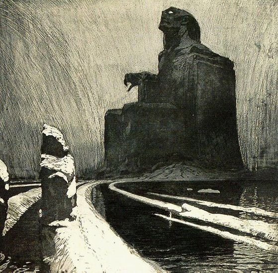 L'Entêtement (ou l'Idole noire), par František Kupka