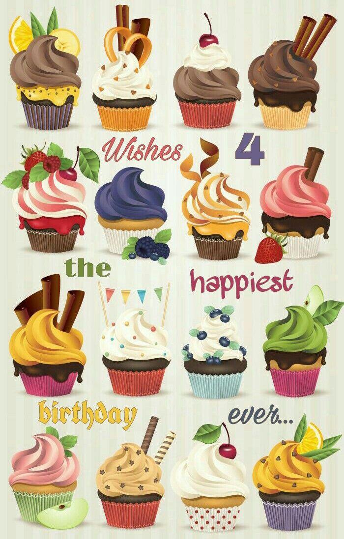 Happy Birthday multiple cupcakes