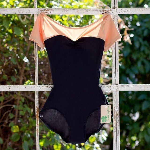 black and nude sweetheart Audrey Hepburn inspired ballet leotard