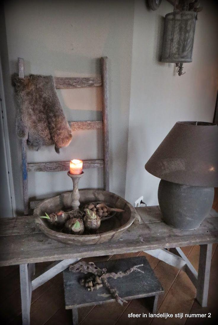 sfeer in landelijke stijl nummer 2: lampjes.....