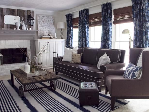 Best Navy Taupe And White Neutral Living Rooms Pinterest 400 x 300