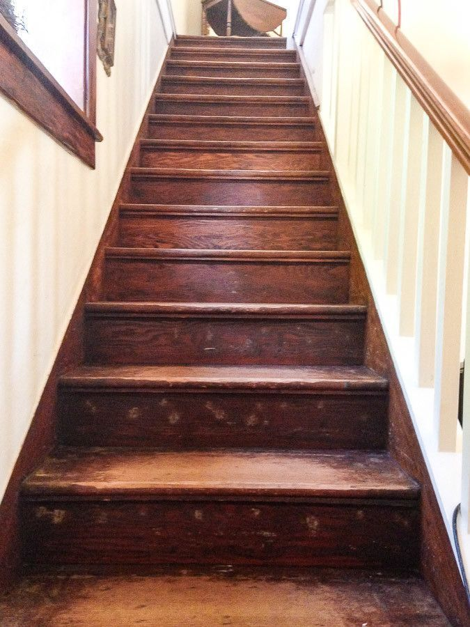 How To Refinish Old Wood Stairs Diy Staircase Refinish Stairs