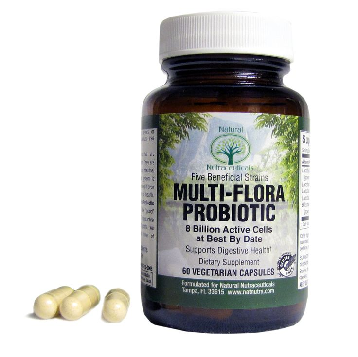 Multi-Flora Probiotic  Contains 16 billion of the following beneficial bacteria strains: Lactobacillus Acidophilus, Lactis, Reuteri, Plantarum, and Bifidobacterium Bifidum. Help digest lactose, protein, regulate bowel motility, and keep the GI tract functioning optimally. Promotes overall health and wellness.