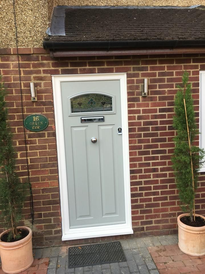 London French Grey Solidor Front Door Expertly Fitted By Wright Glazing Wrightglazing Www Wrightglazing Co Uk Official Inst Doors Front Door Front Door Styles