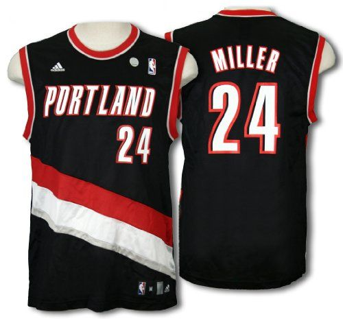 Cheap Portland Trailblazers ANDRE MILLER 24 Men NBA Replica Jersey Black Father day sale