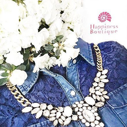 Snow White Statement Necklace - #fashion #jewelry #ootd #fashionstyle #fashionista - 24,90 � @happinessboutique.com