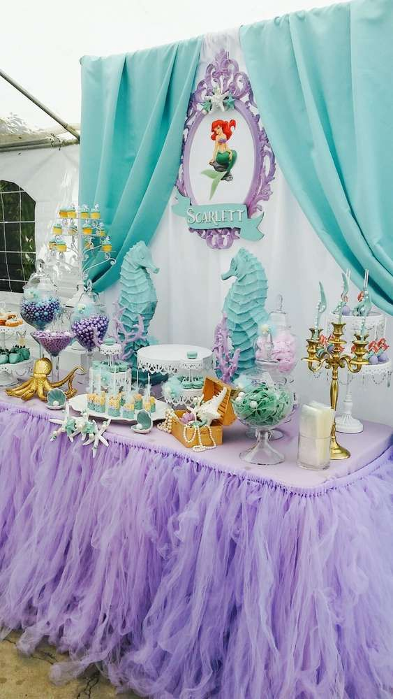 25 best ideas about little mermaid birthday on pinterest for Ariel birthday decoration ideas