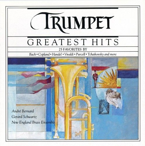 1989 Trumpet Greatest Hits (CBS Masterworks) [CBS MLK45525 / 074644552522] cover illustration by Michael Ng #albumcover