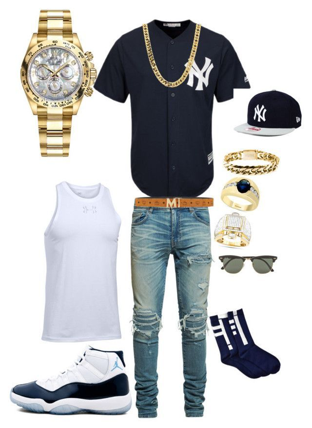 """It's Mr. Steal your girl"" by tikitress on Polyvore featuring AMIRI, New Era, MCM, Effy Jewelry, Rolex, Rocawear, Ray-Ban, Under Armour, men's fashion and menswear #Men'sJewelry – Tony"