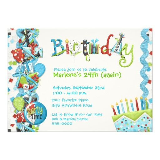 17 Best images about Candle Birthday Invitations – Invitations for Birthdays