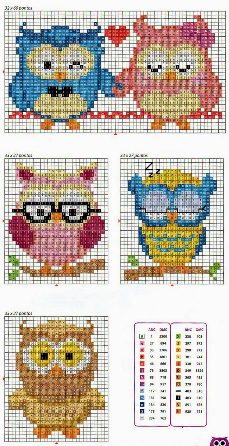 Owls cross stitch