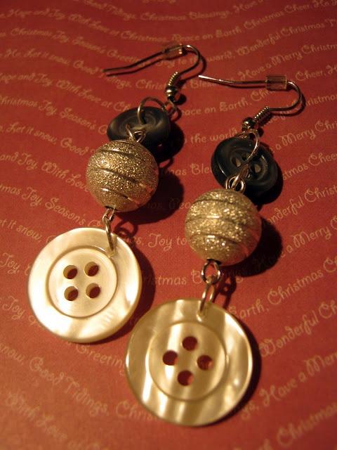orecchini bottone