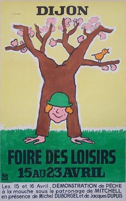 Galerie Montmartre - Foire Des Loisirs Dijon (1974) by Raymond Savignac