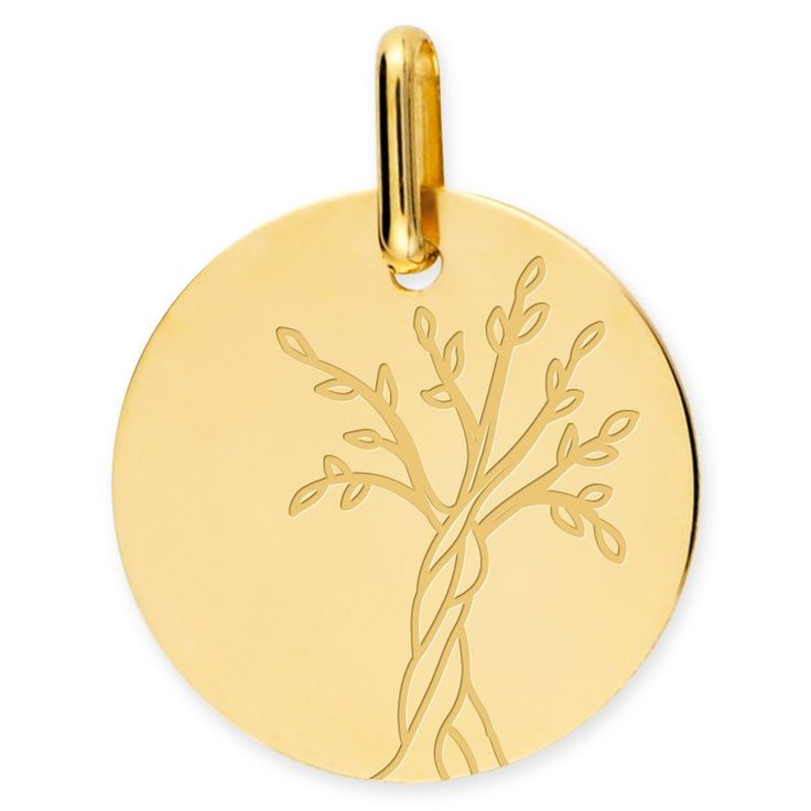 Medaille Arbre de vie or jaune Mon Premier Bijou Médaille Arbre de vie (or jaune 9ct) sur PremierCadeau.com