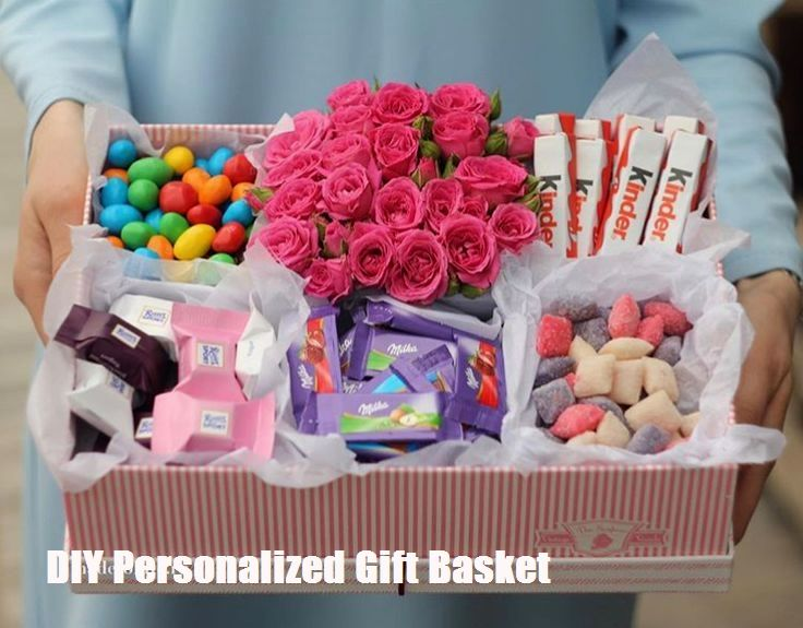 Diy Personalized Gift Basket For Anyone Girlfriend Kids Mom Etc Personalised Gifts Diy Personalized Gift Baskets Gift Baskets