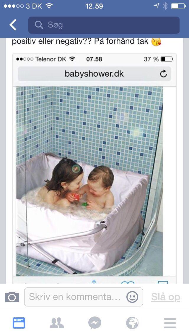 Foldebadekar til 2 børn fås i babyhome