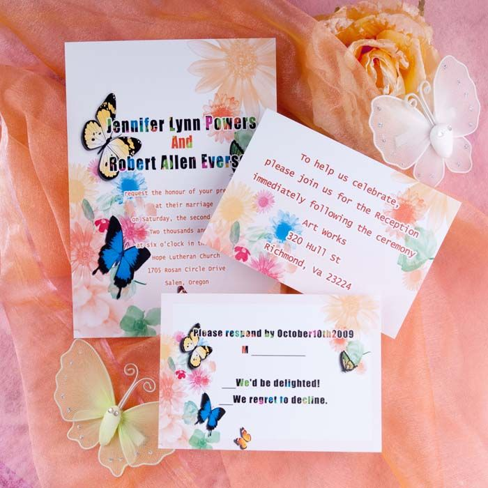 Rainbow Themed Wedding Invitations Image collections - Wedding ...