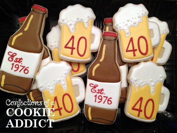 Beer Bottle Cookies Beer Mug Cookies
