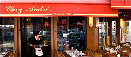 Panoramique du restaurant Chez André à Paris