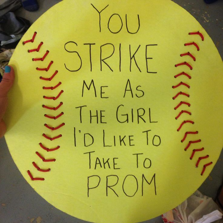 Promposals softball ⚾️⚾️