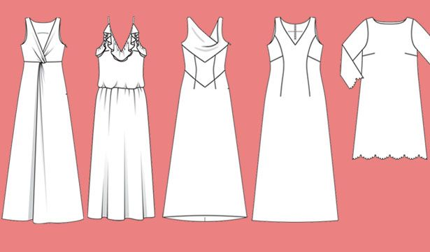 121 best clothing images on pinterest summertime outfits for Cowl neck wedding dress pattern