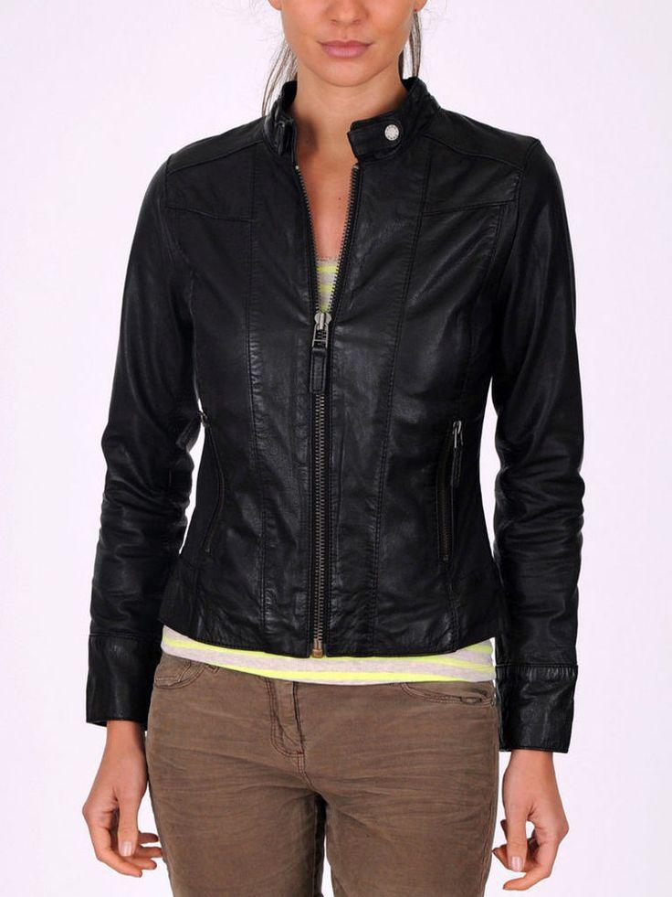 New Women Leather Motorcycle Jacket Biker Genuine Lambskin Zipper Slim MA#25 #Handmade #Motorcycle #Casual #Leatherjacket #leather