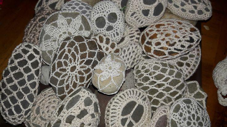 my crochet stones. ..