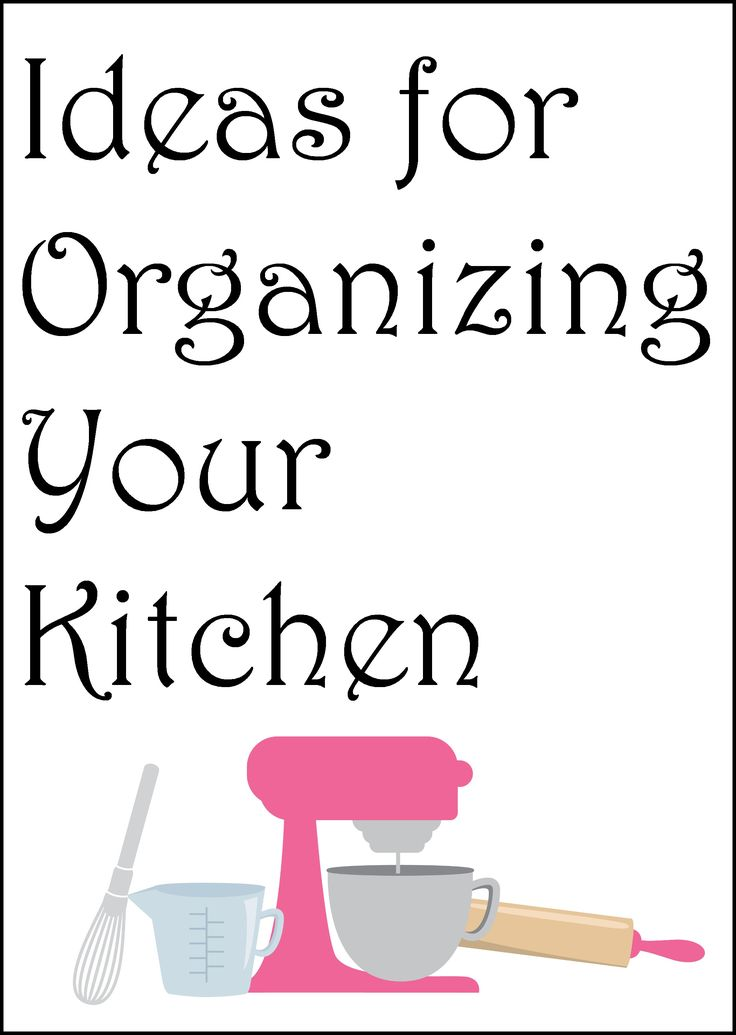Tips and tricks for organizing your kitchen. Everything from cabinets to drawers and more all in one place. Get inspired to get organized!