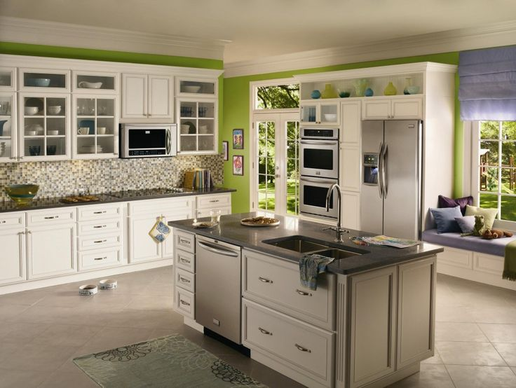 White Kitchen Green Walls wonderful kitchens with white cabinets and green walls i love
