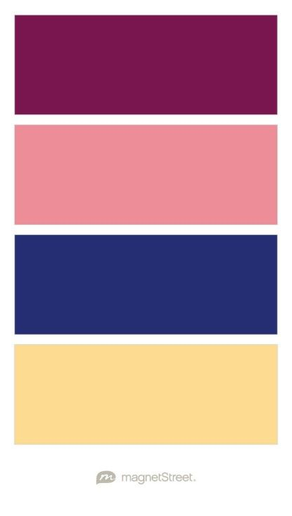 Sangria, Dusty Rose, Custom Blue, and Custom Brown Wedding Color Palette - custom color palette created at MagnetStreet.com