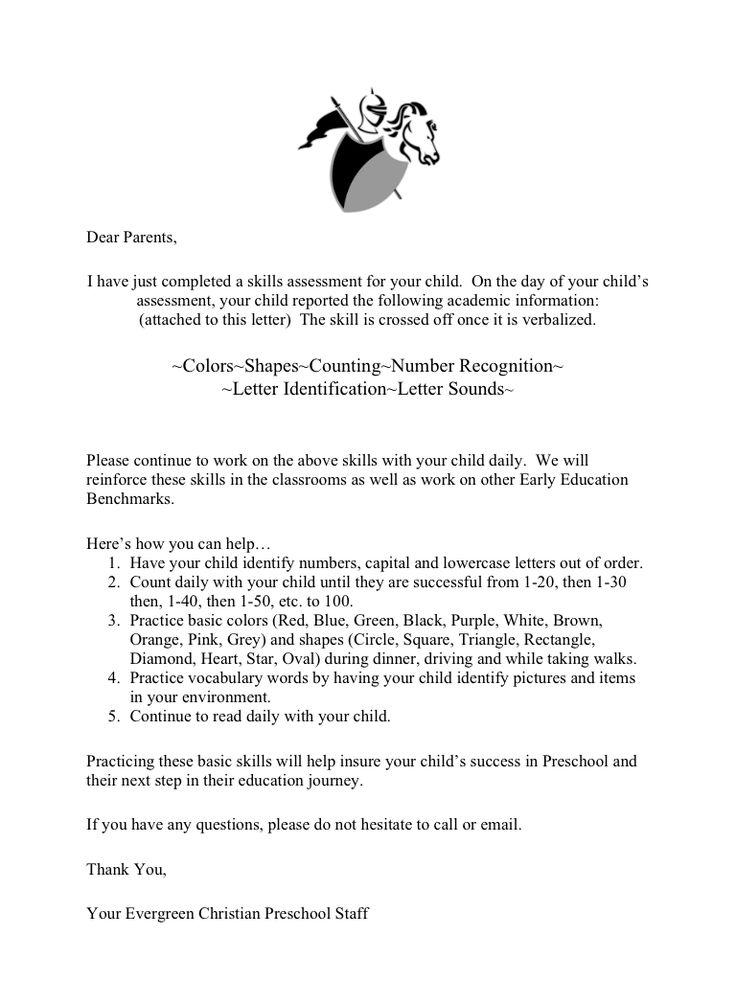 sample resume cover letter for preschool teacher