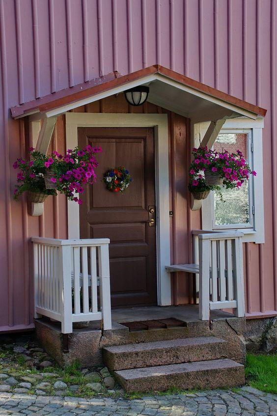 Hauseingang in Eksjö (Schweden) wurde in Schweden…
