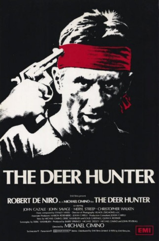 The Deer Hunter-Robert De Niro, Meryl Streep, and Christopher Walken, about the horrors of war, and surviving the aftermath.