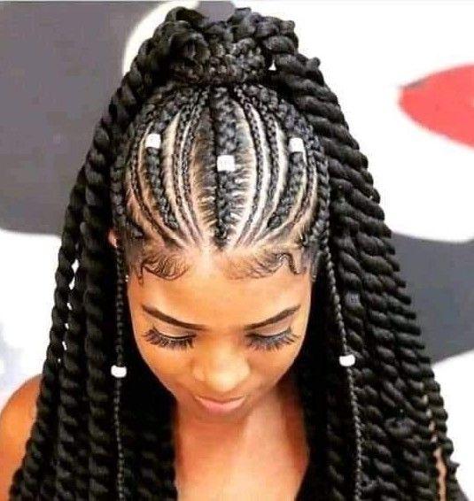 Epingle Par Merry Loum Sur Tresses Africaines Belle Coiffure Idee Coiffure Cheveux Crepus Cheveux Afro