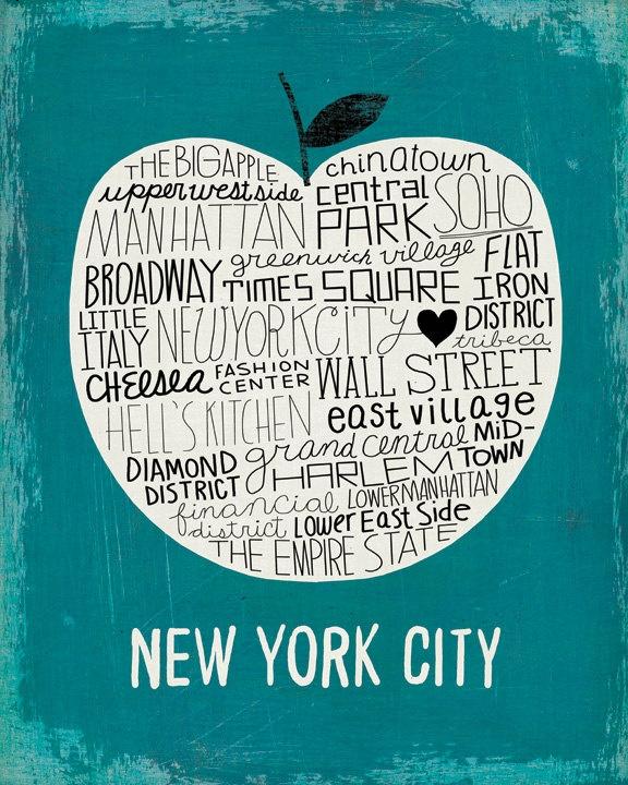 New York City, The Big Apple Art Print - Michael Mullan