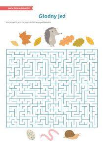 Dzień Jeża – labirynt  Hedgehog Day - maze