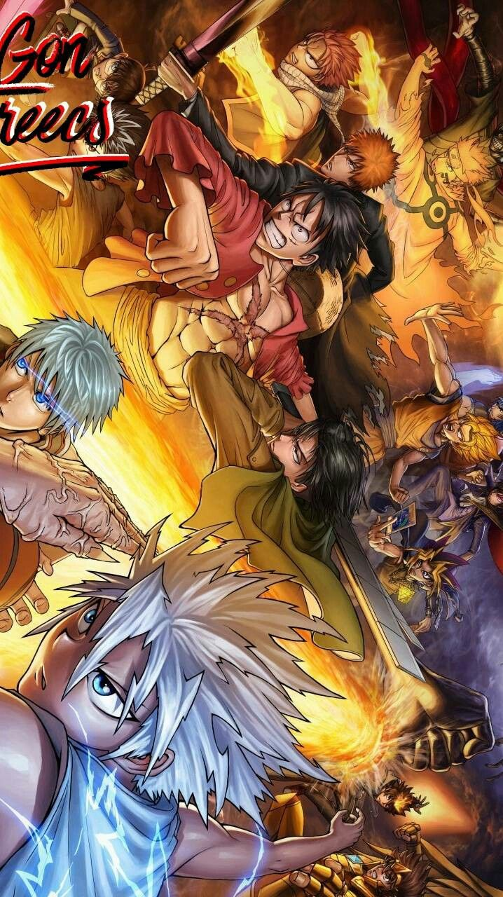 Shonen Heroes Unite Anime Crossover All Anime Characters Anime