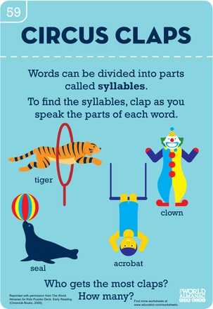 Worksheets: Syllable Circus Claps